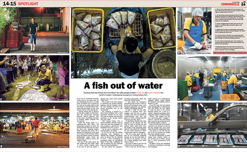 A fish out of water by The Nanyang Chronicle Volume 24 Issue 4, 6 November 2017